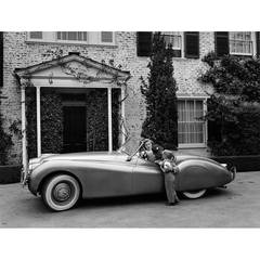 Humphrey Bogart & Lauren Bacall in Front of Their Los Angeles Home