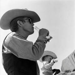 """James Dean on Location for """"Giant"""" in Marfa, Texas"""