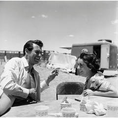 """Rock Hudson and Elizabeth Taylor on Location for """"Giant"""" in Marfa, Texas"""