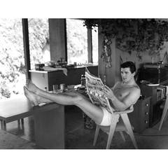 Rock Hudson at Home in North Hollywood