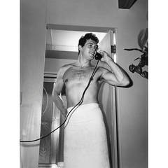 Rock Hudson at his North Hollywood Home