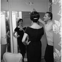 Rossano Brazzi & Sophia Loren at Home in his Beverly Hills, California House