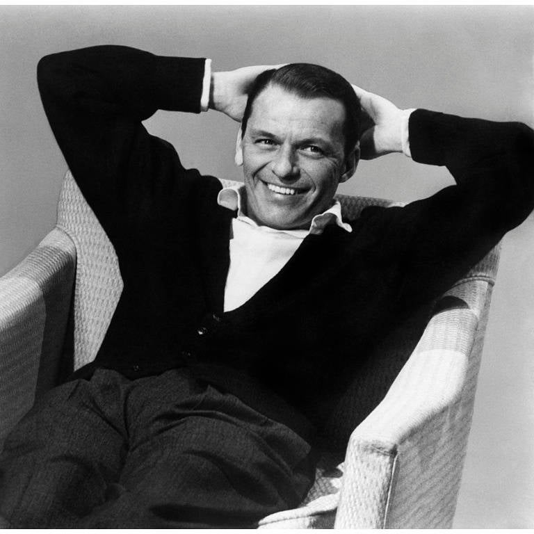 Sid Avery Frank Sinatra During A Capitol Records Album