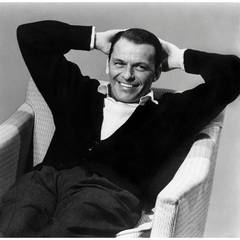 """Frank Sinatra During a Capitol Records Album Cover Shoot for """"Nice 'n' Easy"""""""