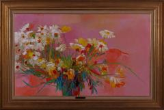 Pink and Gold (Still Life with Flowers)
