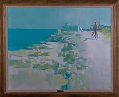 Trani (Boy Riding Bicycle by the Ocean)