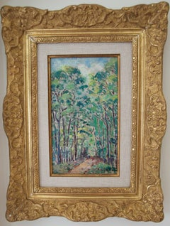 """""""La garenne de Pesselières""""      Paysage (Landscape with Trees)"""