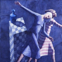 Untitled (Two Woman in Blue Background)