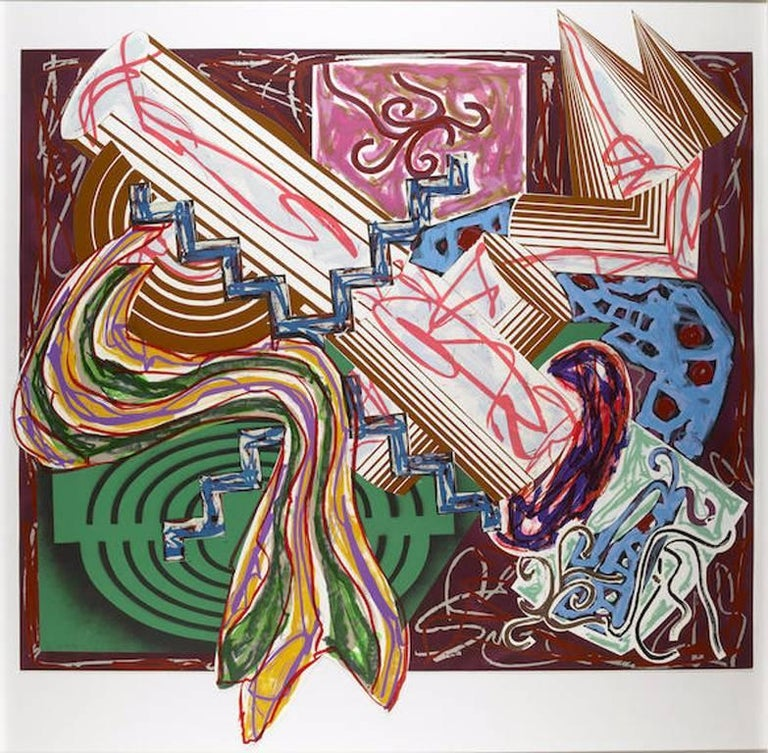 Frank Stella Abstract Print - Then Came a Stick and Beat the Dog, Illustrations After El Lissitzky's Had Gadya