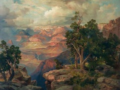 Grand Canyon of Arizona from Hermit Rim Road 1912 (Color Chromolithograph)