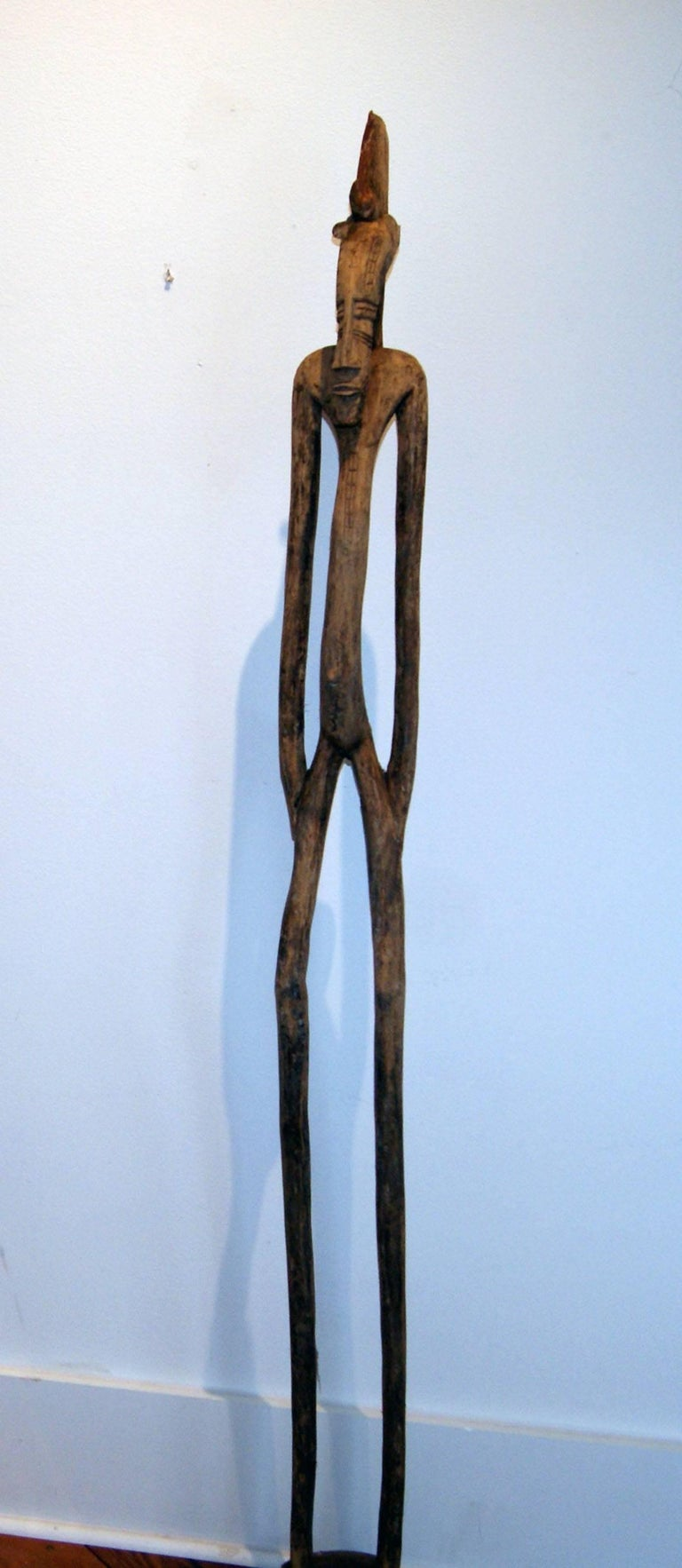 Unknown African Senufo Figure Wood Sculpture At 1stdibs