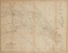 Rare Civil War Map of Part of South Eastern Virginia
