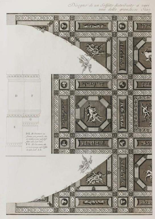 Giovanni Battista Piranesi Interior Print   Antique Ceilings In Hadrianu0027s  Villa ...