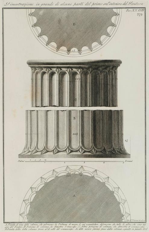 Doric Columns of the Pantheon in Rome