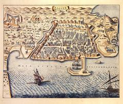 17th Century Map of Algiers