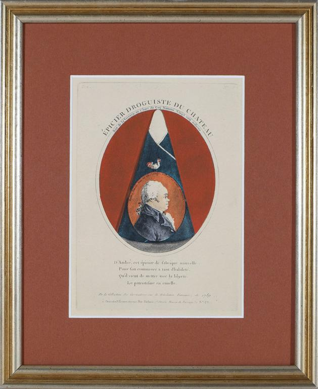 Unknown Portrait Print - The Most Celebrated Grocer of the Chateau