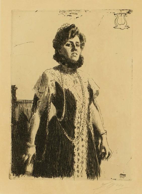 Anders Zorn Portrait Print - Portrait of Miss Oxenstierna