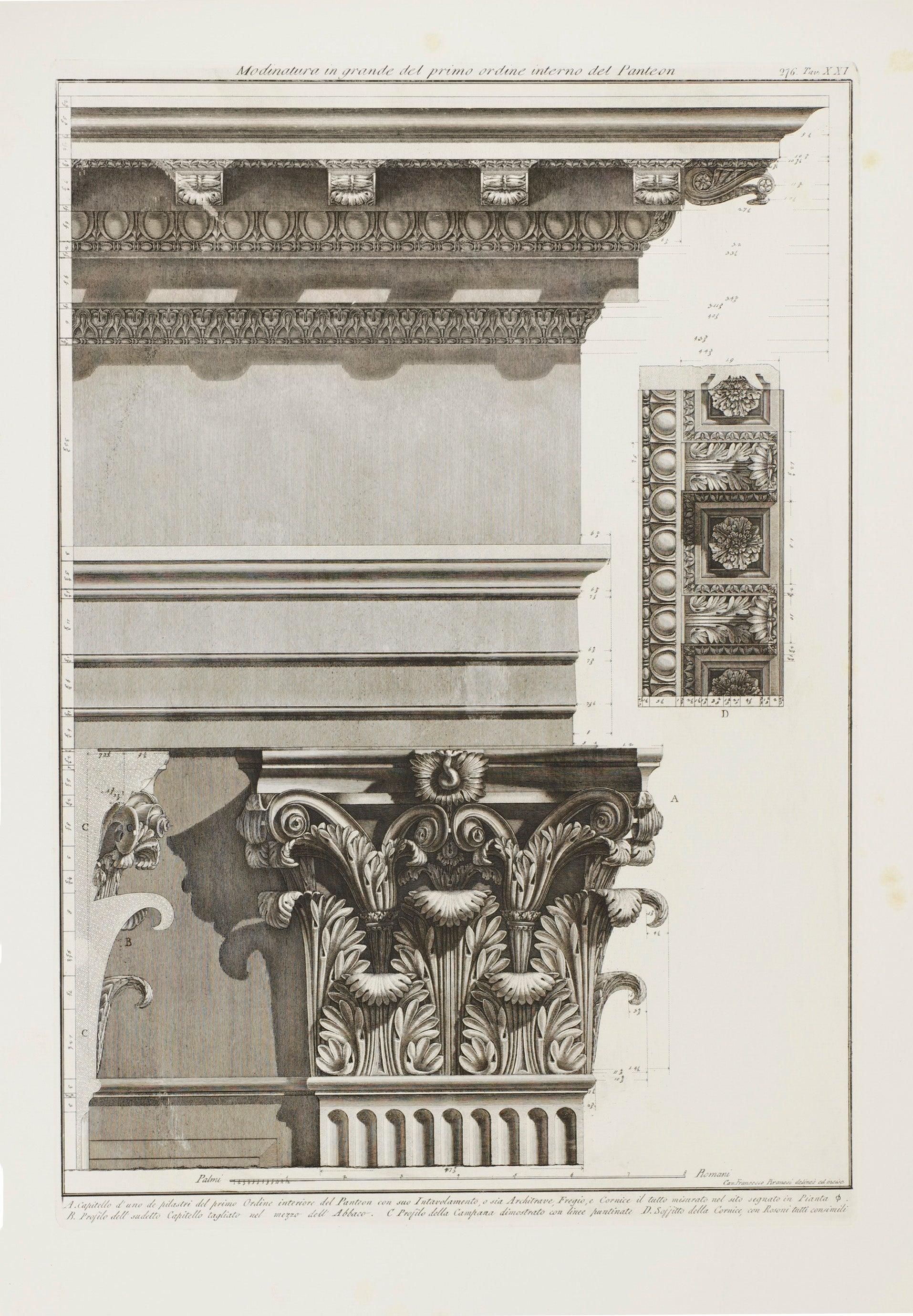 Cornice Sia Home Fashion.Giovanni Battista Piranesi Pantheon Interior Corinthian Pilaster
