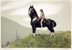 Girl Exercising Her Horse