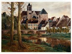 French Village by a Stream