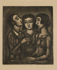 """Portents"", Plate 41 from Rouault's Miserere"