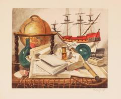 Maritime Still Life with Globe