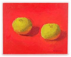 Apples on a Red Background