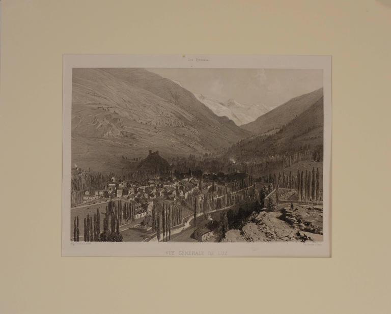 Eugene Ciceri Landscape Print - View of Luz (Saint-Sauveur) France