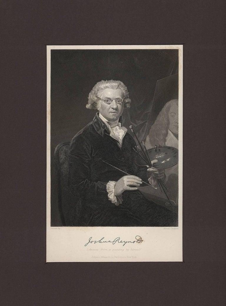 Alonzo Chappel Portrait Print - Portrait of Joshua Reynolds