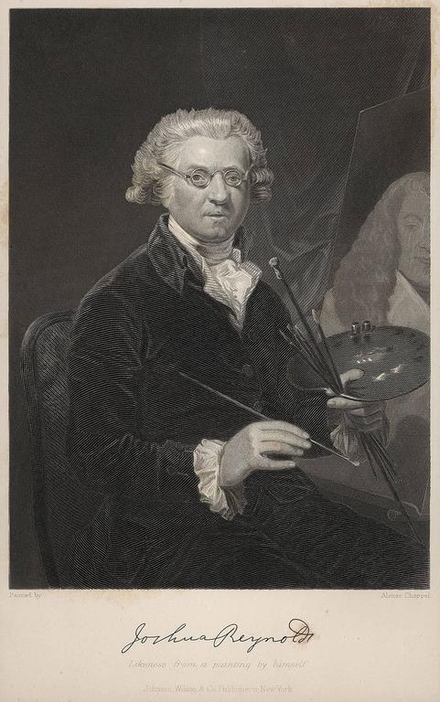 Portrait of Joshua Reynolds - Print by Alonzo Chappel