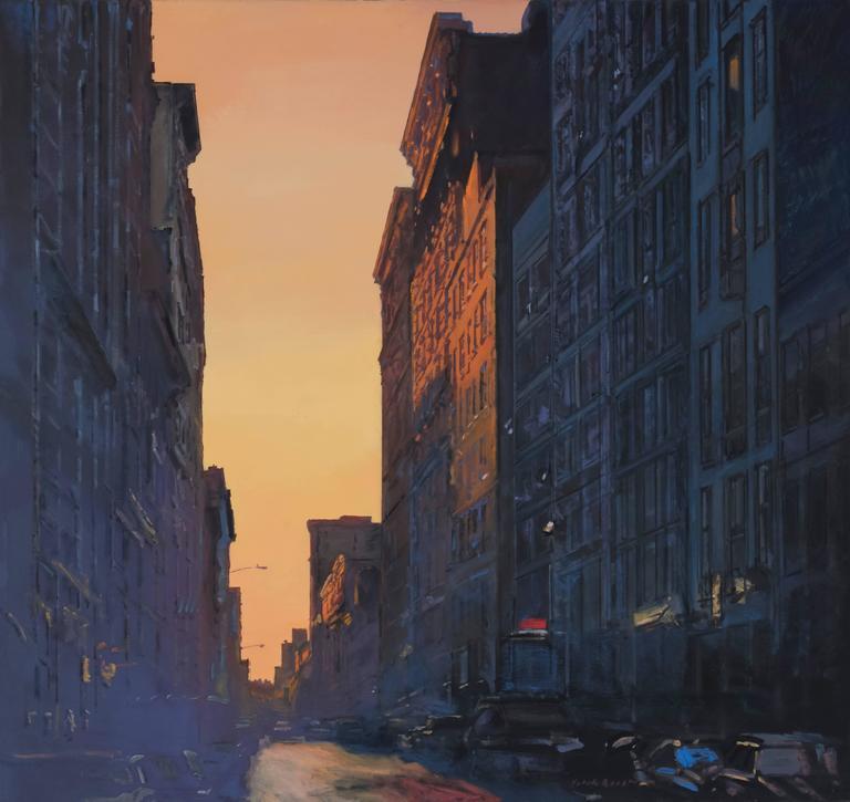 Derek Reist Landscape Painting - Gotham Blue