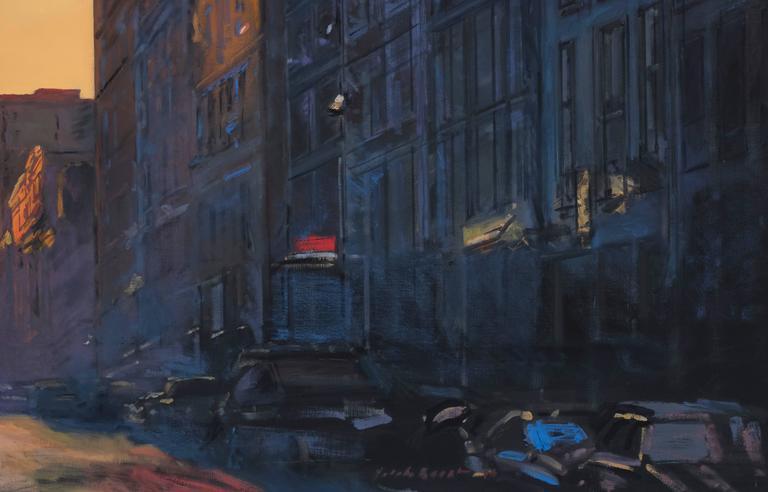 Gotham Blue - Painting by Derek Reist