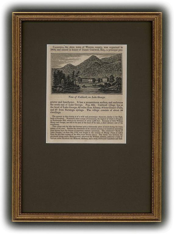 Unknown Landscape Print - View of Caldwell, on Lake George