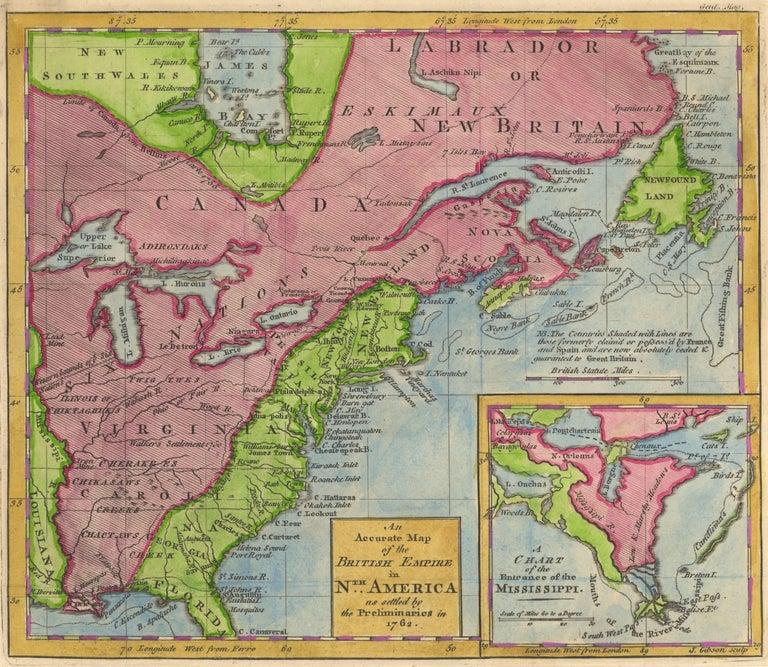 Thomas Kitchin Landscape Print - 1762 Map of North America