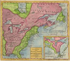 1762 Map of North America