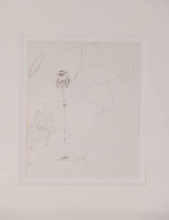 Dedication Pencil Drawing by Salvador Dali