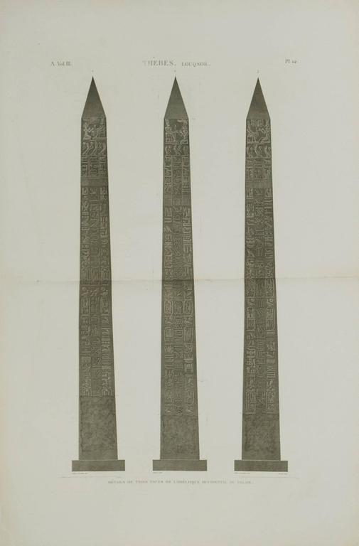 The Western Egyptian Obelisk at Thebes. Louqsor