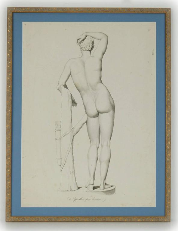 Unknown Figurative Print - Apollo from Behind