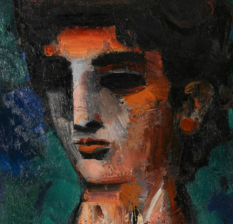 Female Portrait - Contemporary Painting by Unknown