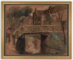 Village Canal Scene