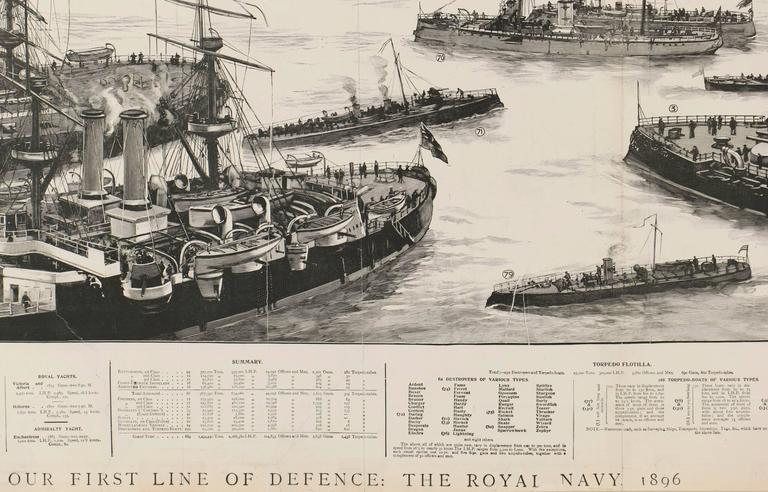 Our First Line of Defence: The Royal Navy - Print by Unknown