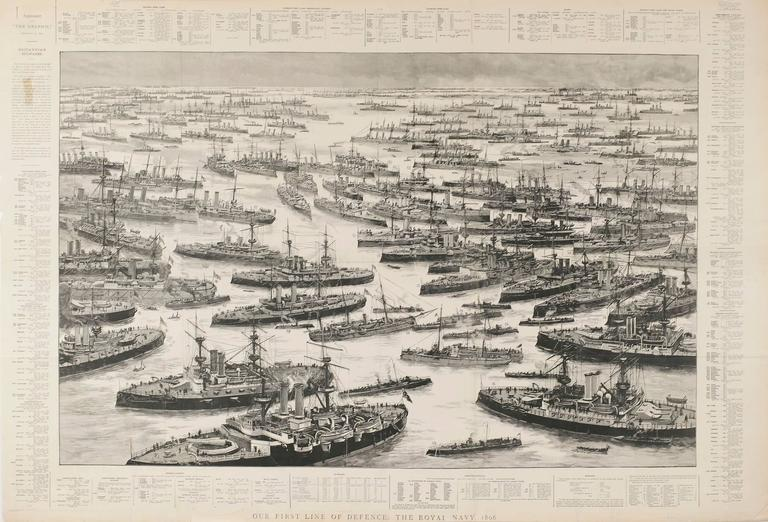 Unknown Landscape Print - Our First Line of Defence: The Royal Navy