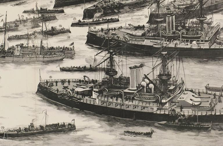 Our First Line of Defence: The Royal Navy - Beige Landscape Print by Unknown