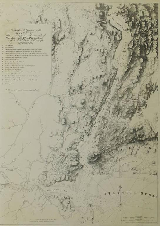 George Hayward Landscape Print - The Battle of New York British Operations