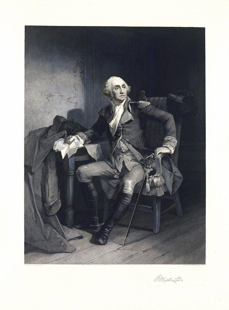 Christian Schussele Portrait Print - George Washington - Historic Duche Letter