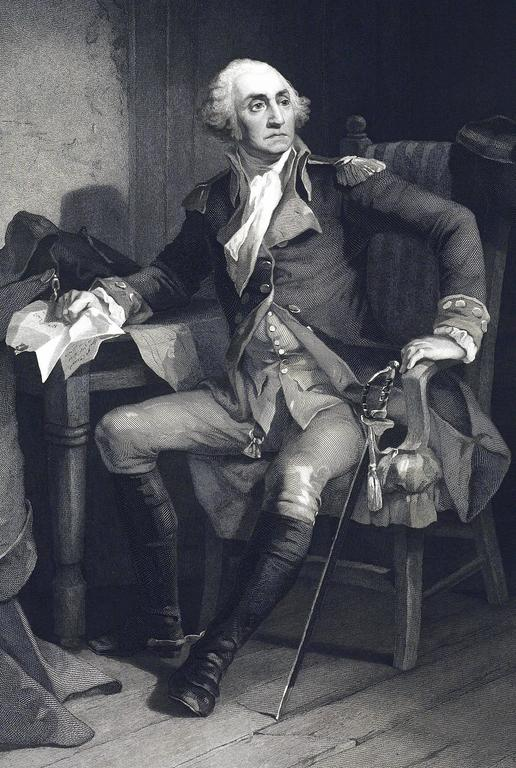 George Washington - Historic Duche Letter - Print by Christian Schussele