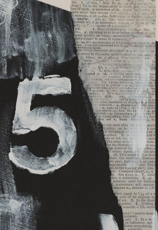 Number 5 - Abstract Mixed Media Art by R. Scott Lalley