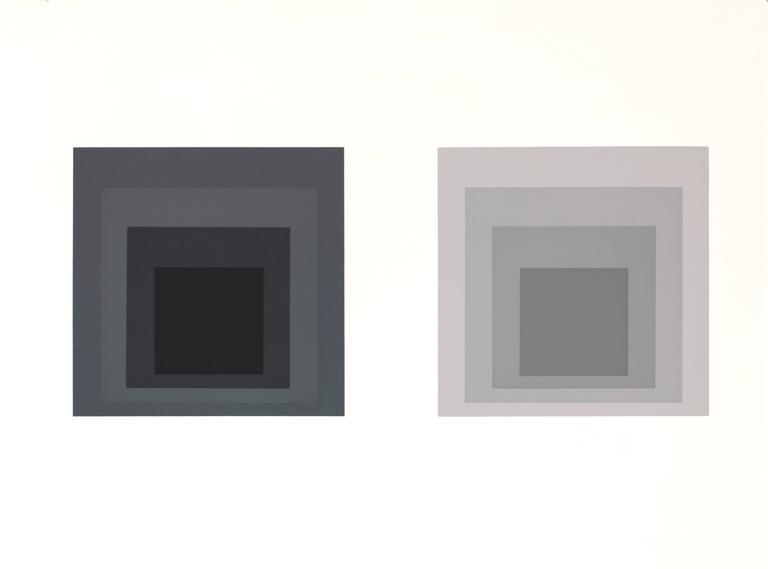 Josef Albers Abstract Print - Formulation : Articulation, Portfolio I, Folder 23 (A)