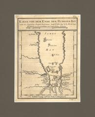 Jacques Nicolas Bellin - 1774 Map of Lower Hudson Bay by  Nicolas Bellin