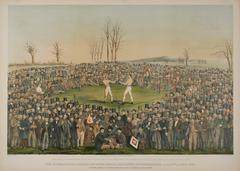 International Boxing Match  Between Heenen and Sayers 1860